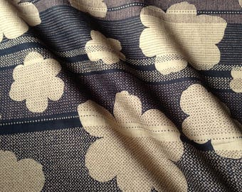 Japanese traditional motif, black background, cotton 110 x 50 (284)