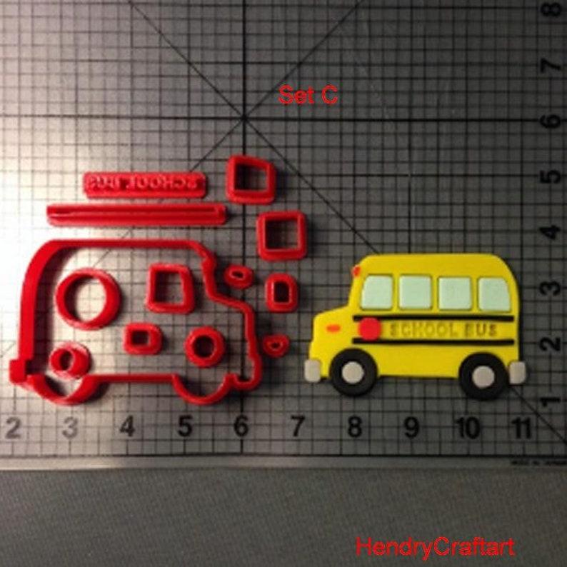 GUMPASTE CUTTERS FONDANT SCHOOL BUS CUTTER BISCUIT 5inch