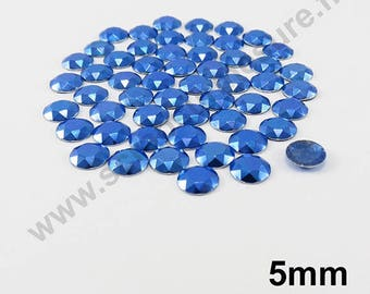 Thermo - ROYAL blue - domed 5mm - 75 x