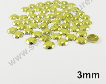 Dome Thermo - yellow - 3mm - x 150pcs