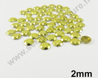 Dome Thermo - yellow - 2mm - x 200pcs