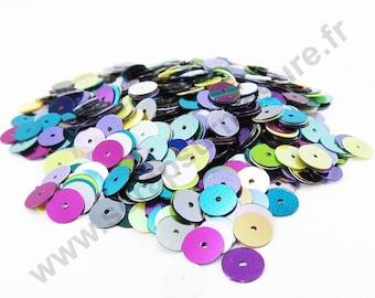 100 PCs  Mixed Coloured Baby PVC Sequins Paillettes 21mm