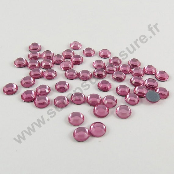 Strass Hotfix rhinestones 1440 pièce rose ø4mm