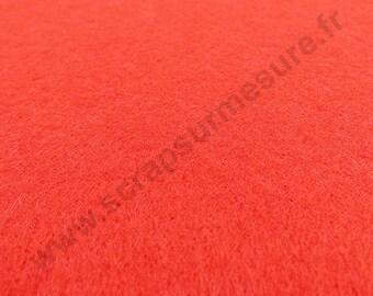 Sheet of felt 3mm - red - 21 x 29.7 cm - x 1pce