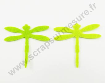 Felt - Dragonfly Apple - x 8 pcs