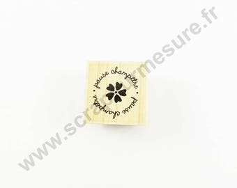 X 1 PCs - break country - wooden rubber stamp