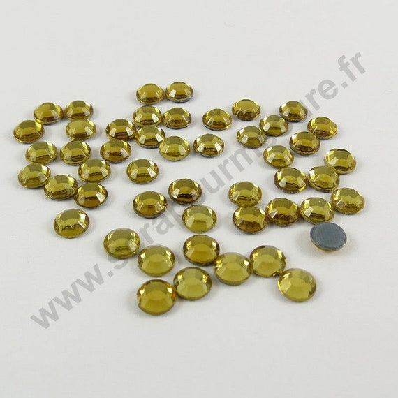 4mm 3mm 5mm Strass thermocollant hotfix GRIS 6mm au choix 2mm