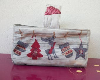 Quilted basket Christmas motifs