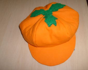 Cap newsboy pumpkin