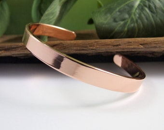 Hammered copper cuff-12 wide polished or matte finish