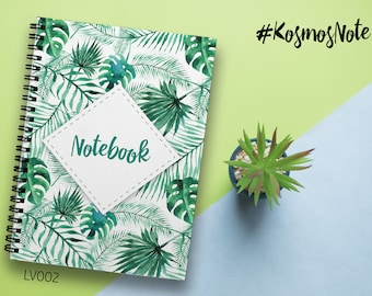 Palms Notebook A4 Notepad Leaves Notebook A5 Notebook Writing Journal Spiral Notebook Customized Planner A4 2018 Planner Custom Notebook A4