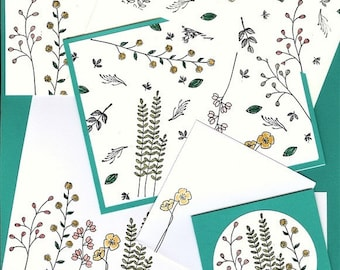 Stampin' Up! Field of Flowers Custom Designed Stationery and Note Cards