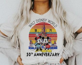 Vintage Mickey Ears Disney World 50th Anniversary T-shirt, Disney Retro Shirt, Magic Kingdom Shirt, Disneyland Shirt, WDW Shirt, 1971-2021