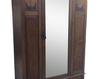 Armoires/wardrobes Edwardian/victorian Wardrobe Beautiful In Colour Edwardian (1901-1910)