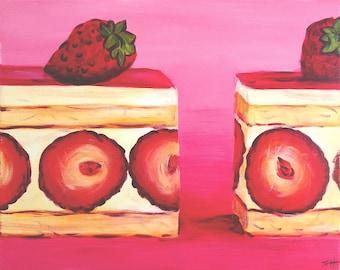 "An original painting, ""YumYum"" by Sherri Hepler, acrylic on canvas"