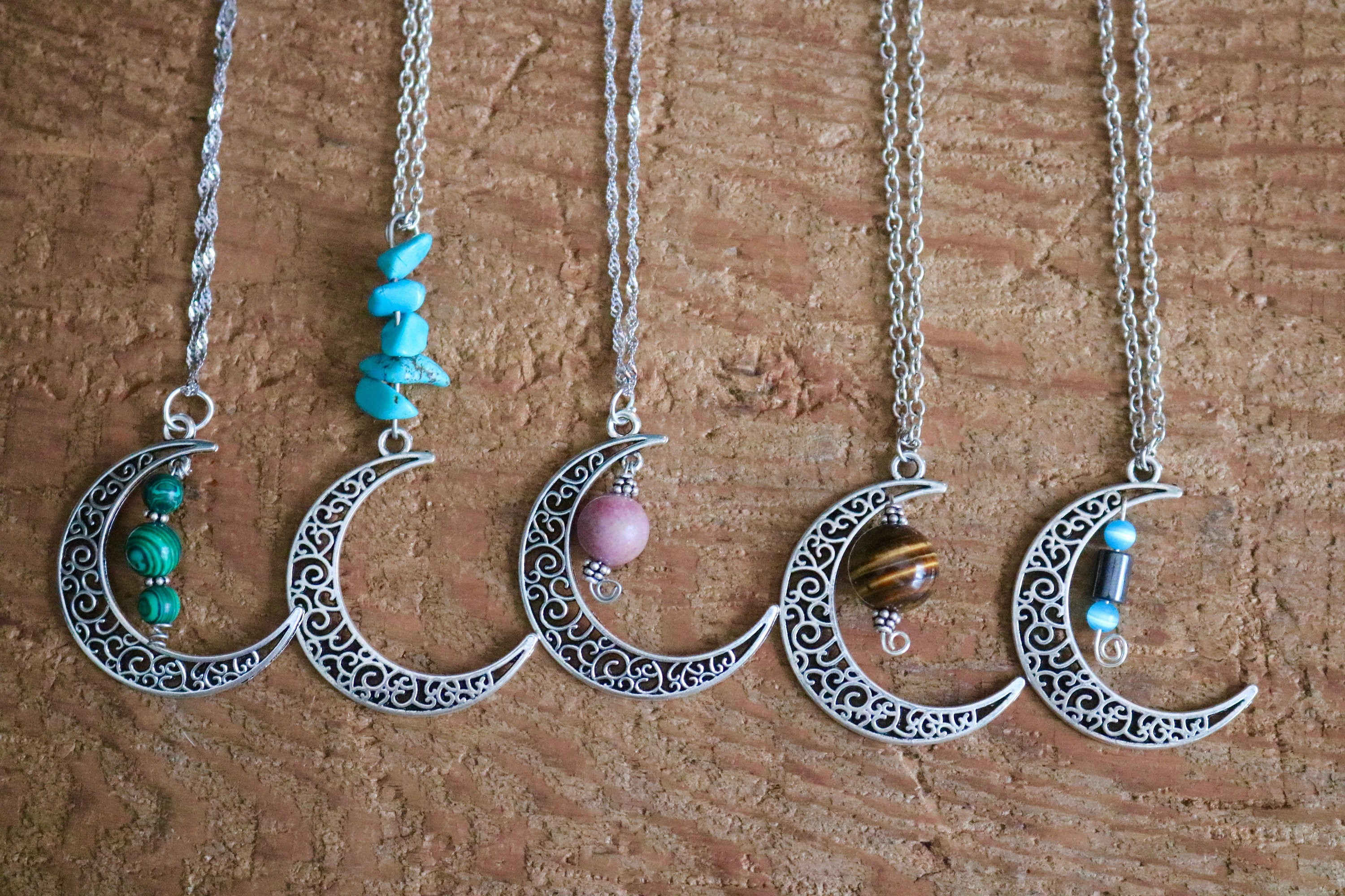Bohemian Stone Moon God Turquoise Pendant Necklace Jewelry Accessory T