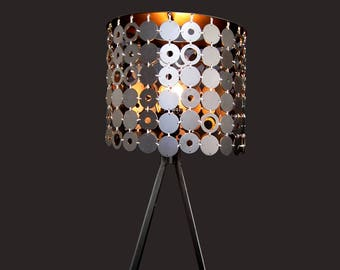 Silver Abstract Lamp