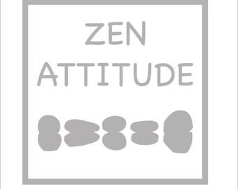 Sticker decor sticker vinyl lounge or bathroom zen attitude