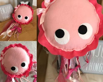 Plush jellyfish felt