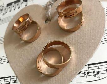 1 - Rose gold adjustable rings