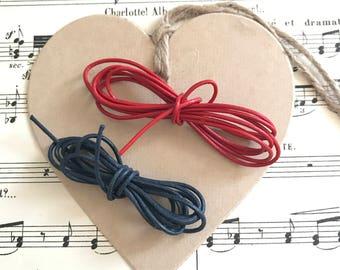 Red/Blue bi-material strings