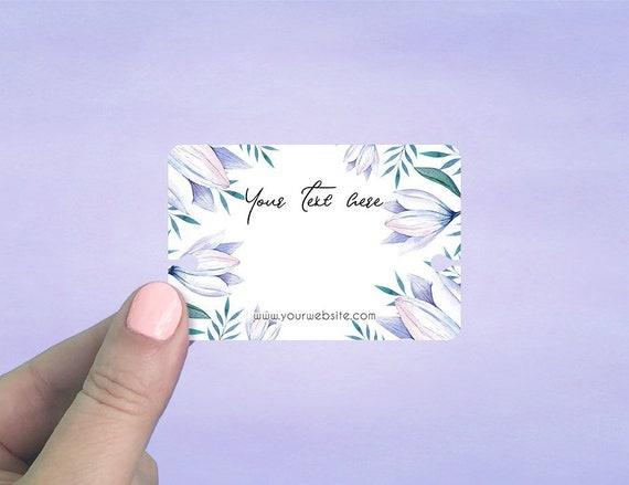 Custom Bracelet Cards 75 pcs Personalized Bracelet Cards Jewelry Display Cards Pastel Roses Design Bracelet Display Cards D00024-07