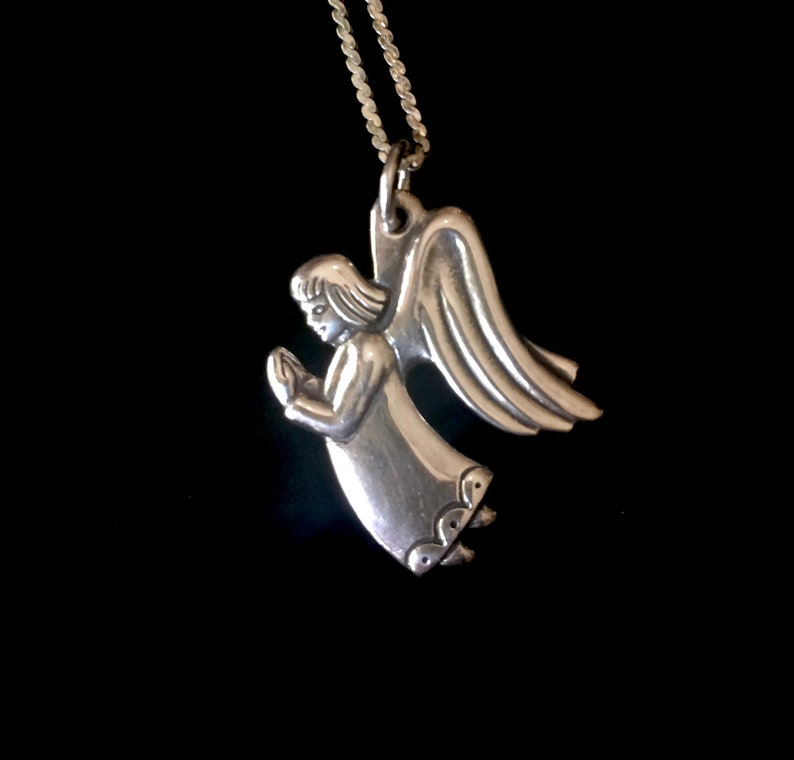 b4243c347 James Avery Retired Vintage Sterling Silver Praying Angel | Etsy