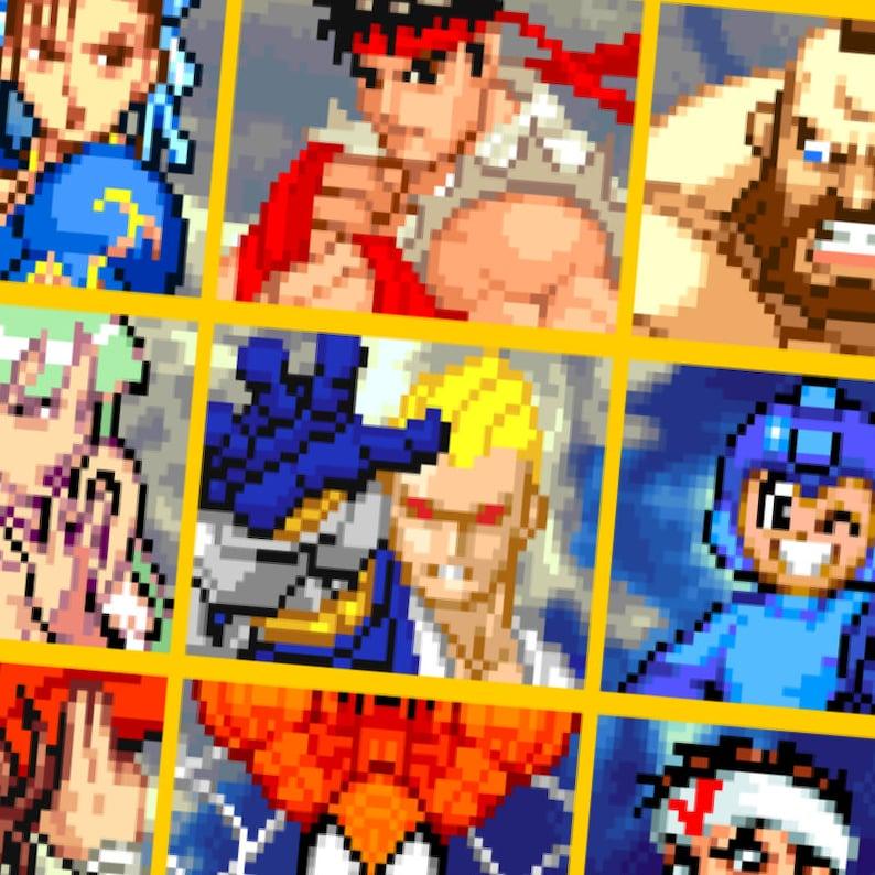 Marvel vs Capcom Character Select Retro Classic Arcade Video Games Unisex  T-shirt