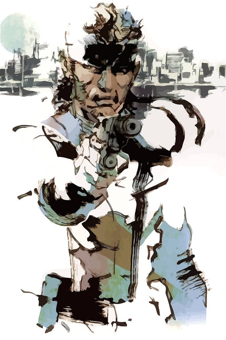 Metal Gear Solid Snake Sons Of Liberty Poster