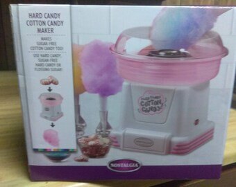 Nostalgia hard candy ,cotton candy maker Works great ships fast