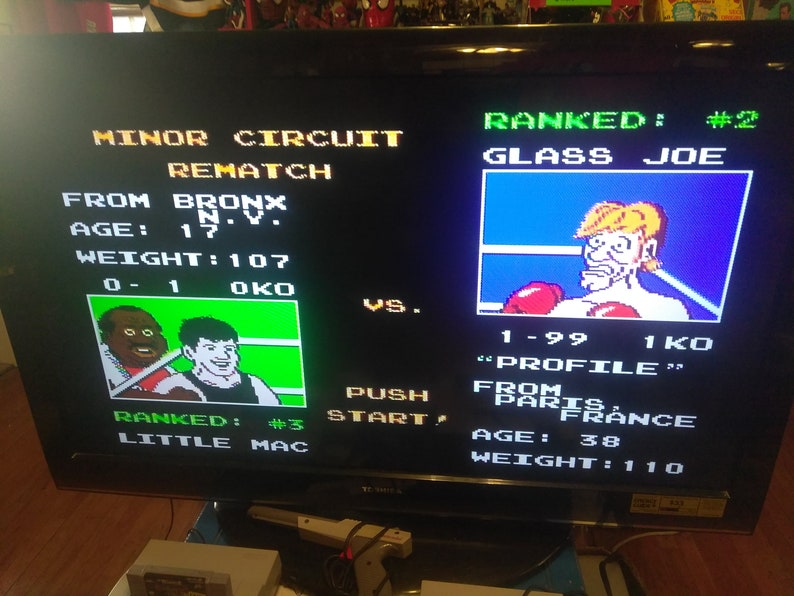 Nes system w/loose Mike Tyson's punch out tested works great