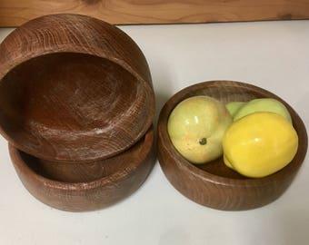 Kalmar designs teak wood mid century bowl set of 3