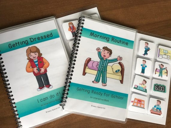 Morning Routine and Getting Dressed InteractiveAdapted Books for Special Ed
