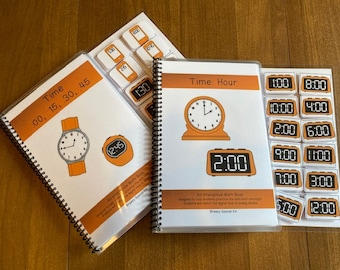 Telling Time adapted books for special education