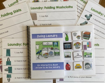 Laundry Task Analysis and Interactive Book for Special Ed with bonus worksheets!