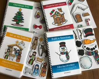 Christmas Adapted Books Following Directions + Sequencing for Special Ed