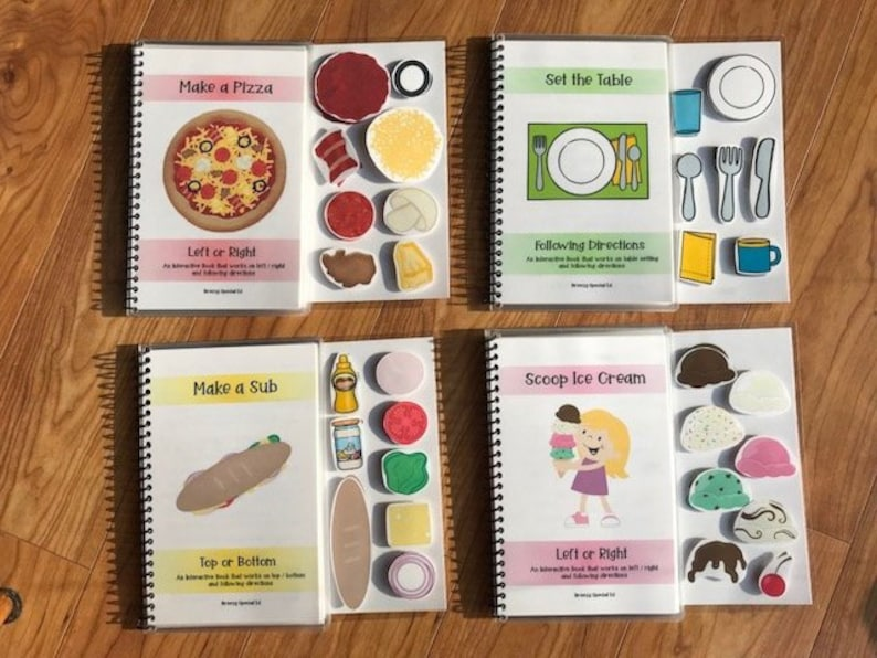 Food Adapted Books Following Directions Left / Right and image 0