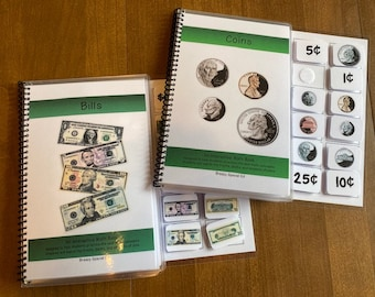Money Bills/Coins ID adapted books for special education