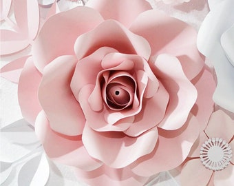 Paper Flower Wreath Etsy