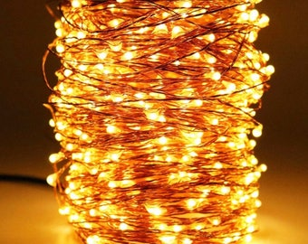 HaMi 66ft 200 LED String Lights,Waterproof Christmas Lights Fairy Lights with UL Certified, Decorative Copper Wire Lights for Bedroom,Patio,