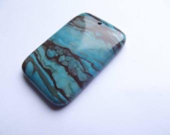 Dyed Jasper pendant rectangular KAYA 417