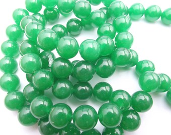 38 colored 10 mm MIM-458 agate smooth round beads