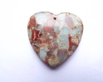 Symmetrical MIM-432 Jasper heart pendant