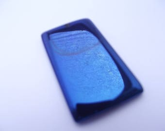 Rectangular shaped TOGA 723 blue titanium agate pendant