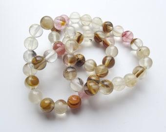 "48 ""cherry quartz"" glass round beads 8 mm BAO 559"