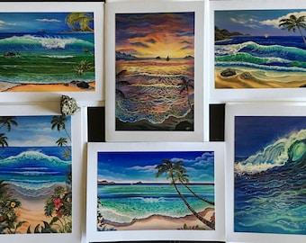 Hawaii acrylic greeting cards