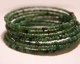 Olive You!: Memory Wire Bracelet