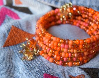 Vitamin C: Memory Wire Bracelet