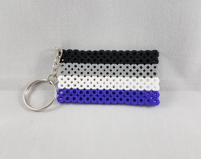 Asexual Pride Flag Keychain