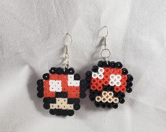 Mario Toadstool Earrings